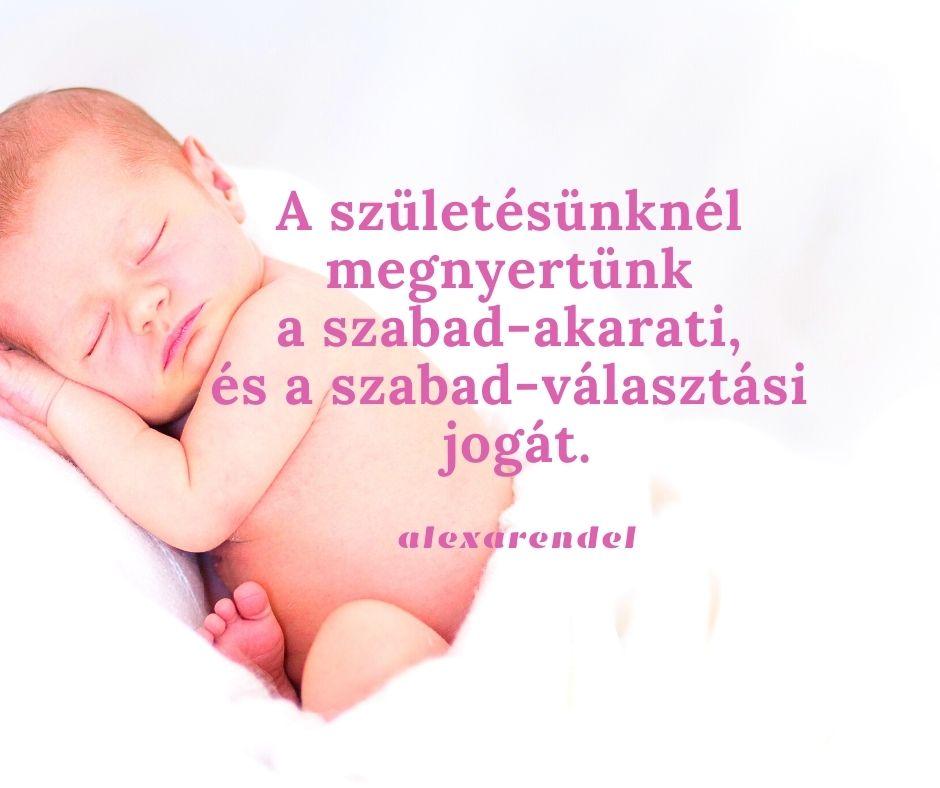A születésönknél megnyerttünk a szabad-akarati, és a szabad-választási jogát._alexarendel