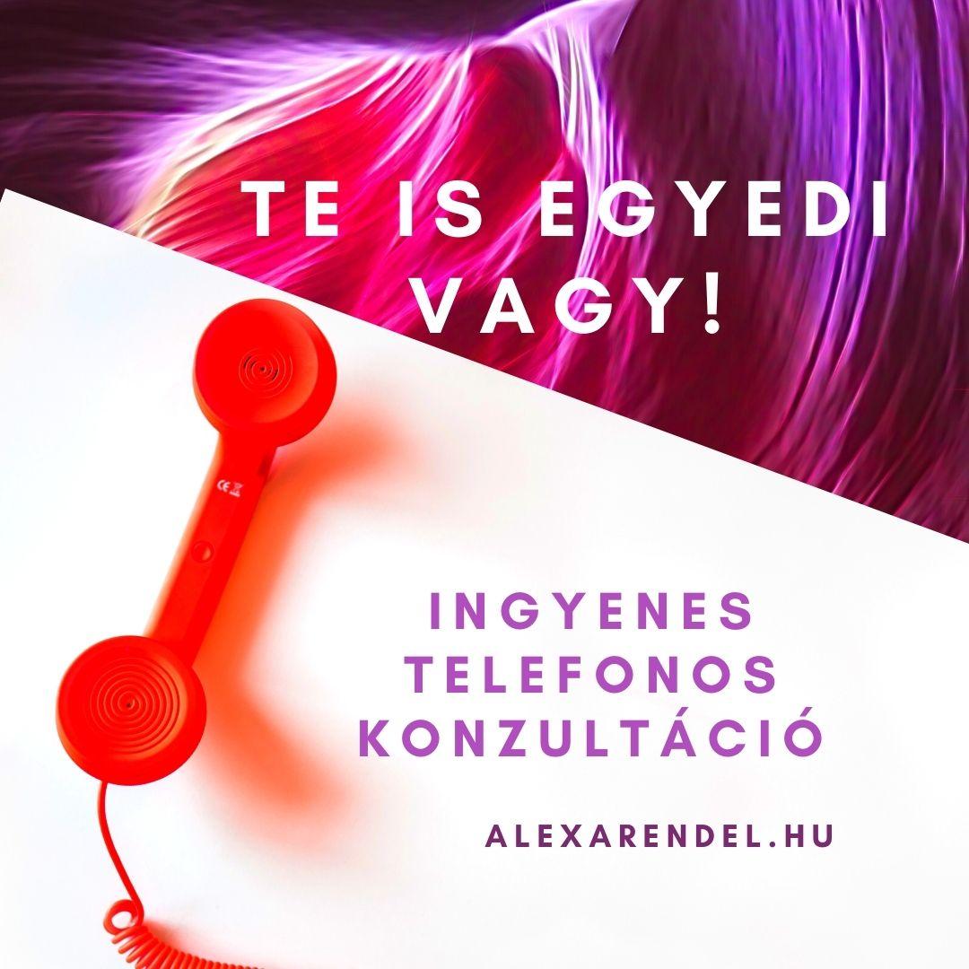 Ingyenes telefonos konzultáció/alexarendel.hu