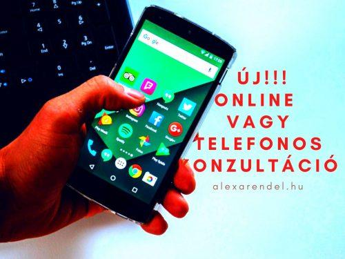 Online, vagy telefonos konzultáció/ alexarendel.hu