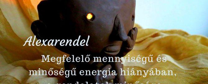 Megfelelő mennyiségű és minőségű energia hiányában, a gondolatok minősége megsérül./alexarendel